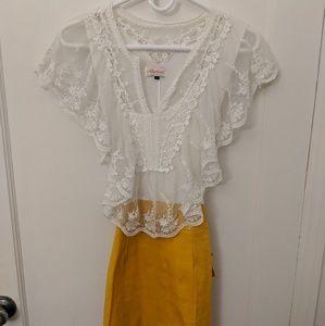 Mustard and Lace Dress
